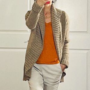 Vince Open Cocoon Shawl Collar Cardigan size S